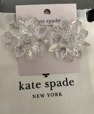 Flower Earrings in Clear $68.00 Kate Spade New York Full Flourish