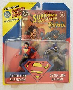 SUPERMAN MAN OF STEEL CYBER-LINK SUPERMAN & CYBER-LINK BATMAN + COMIC BOOK