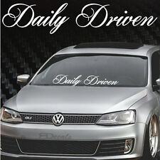 "BIG Daily Driven Windshield Banner 6.5""x33"", JDM Honda Acura Low Decal sticker"