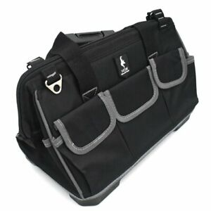20 Inch Waterproof Heavy Duty Tool Bag With Hard Plastic Base