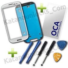Kit Completo Reparacion Cristal de pantalla Samsung Galaxy S3 i9300 Blanco