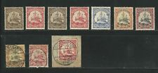 Germany: Occupation East Africa, lot of 10 stamps hinged, + used EBA122
