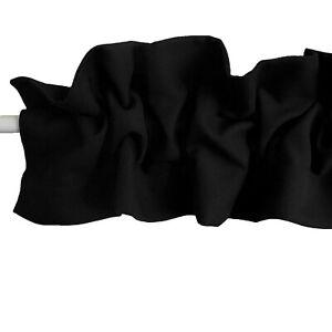 Solid Poplin Ruffle Sleeve Topper Window Valance