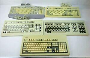 Vintage Mechanical Keyboards! Alps, Fujitsu, Sun, DTK Computer + More (Lot of 5)