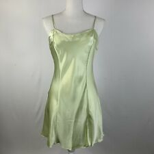 Victoria's Secret 100% Silk Slip Pastel Green Strappy Split Style 1408 Size M