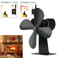 4 Blade Stove Top Fan Eco Fireplace Fan Heat powered For Wood Log Burners XO | Home & Garden