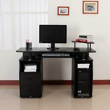 Computer PC Desk Work Station Office Home Furniture Raised Monitor & Printer