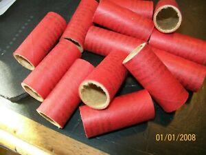 "100 pcs. M80 Style FIREWORKS RED PYRO TUBES 9/16"" x 1-1/2"" x 1/16"""