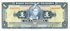 Nicaragua 1 Cordoba Currency Banknote 1957 CU