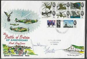 GB 1965. BATTLE OF BRITAIN F.D.C. WITH TWO SIGNATURES.  (2377)
