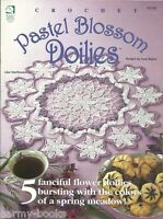 Pastel Blossom Doilies Josie Rabier Crochet Pattern Instructions Floral 1999 NEW