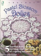 Pastel Blossom Doilies Josie Rabier Crochet Pattern Instructions Floral 1999 NEW