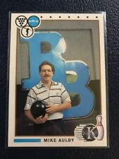 RARE 1990 Kingpins PBA Bowling #66  Mike Aulby 2-Time National Champion  NM/MT+