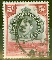 KUT 1938 5s Black & Carmine SG148 P.13.25 Fine Used