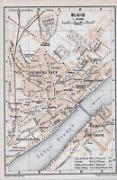 41 Blois 1899 pt. plan ville orig. + guide angl. (4 p.) ND du Refuge Les Granges