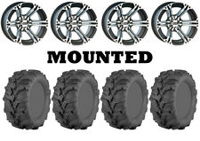 Kit 4 ITP Mud Lite XTR Tires 26x9-12/26x11-12 on ITP SS212 Machined Wheels IRS
