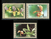 LAOS STAMP 2011 ORCHID FLOWERS 3v. MNH