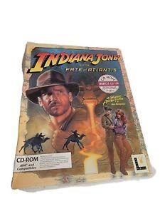 Indiana Jones Fate of Atlantis CD Rom IBM Enhanced Game Vintage Big Box LucasArt