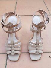 NWOB URBAN SOUL Ladies Bone Leather Sandal Heels Size: 8