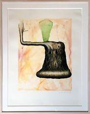 Edward Henderson Surrealist Mixed Media, 1988; Signed & Framed