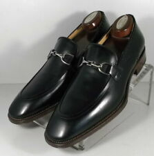 243071 ESi60 Men's Shoe Size 9.5 M Black Leather Made in Italy Johnston & Murphy