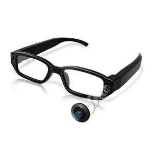 Jiyibidi Versteckte hochauflösende Mini Überwachungs-Kamera in Einer Brille