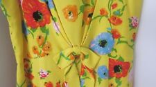 Moschino Jeans Italian Yellow Bow Floral Fully Lined Pleat Shift Dress USA Sz 10