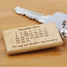 Personalised Engraved Wooden My Mummy Keyring - Calendar, Engraved Key Rings