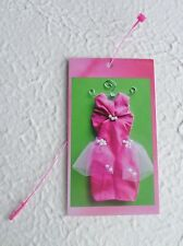 100 Fashion Boutique Gift/Price Tags Chic Dress Pink/Green W/Snap Lock Loop Ties