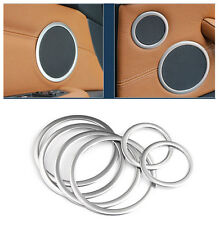 Stainless Interior Door Speaker Ring Cover Trim 6pcs For BMW X5 E70 2007-2013