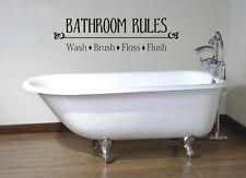 BATHROOM RULES VINYL LETTERING BATH WORDS BATHROOM VINYL DECOR DECAL WALL  ART