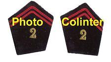 2eme Regt  du Génie  - Paire d'ecussons de col pour veste mle 52/58 Officier