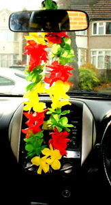 Lei necklace VW Ttransporter decoration Rasta/Jamaica FREE UK POSTAGE