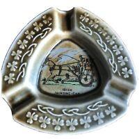 Vintage Wade Irish Porcelain Ashtray With Painted Jaunting Car Scene