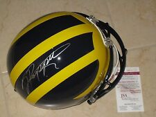 Jabrill Peppers #5 signed Michigan Wolverines NCAA Full Size Helmet JSA Witness