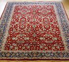 LOVELY INDO-TABRIZZ FLORAL HAND KNOTTED WOOL ORIENTAL RUG HAND-WASHED 5.8 x 8