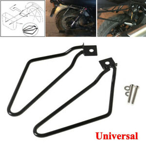 Universal Motorcycle Bracket Rack Saddle Pannier Bag Spacer Support Bars Mount