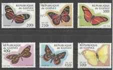 Timbres Papillons Guinée 1161A/F o lot 3605