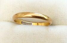 LOVELY onorevoli Early Vintage Oro 22ct completamente marchiato Plain ristretta fascia di nozze