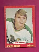 1973-74 OPC # 88 NORTH STARS DENNIS OBRIEN ROOKIE NRMT-MT CARD (INV#5429)
