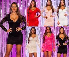 Koucla Cocktail Kleid Party Minikleid Abendkleid Dress Spitze