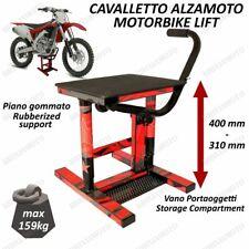 CAVALLETTO MOTO ALZAMOTO CENTRALE CROSS ENDURO MOTARD UNIVERSALE OFFROAD ROSSO
