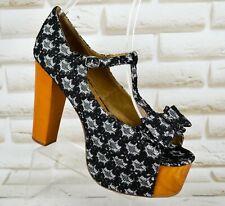 JEFFREY CAMPBELL FOXY LUANNE Womens High Heels Sandals Shoes NEW Size 7 UK 41 EU