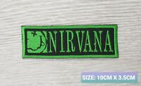 NIRVANA GREEN  MUSIC BAND LOGO EMBROIDERED APPLIQUE IRON / SEW ON PATCHES