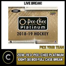 2018-19 O-PEE-CHEE PLATINUM HOCKEY 8 BOX (CASE) BREAK #H359 - PICK YOUR TEAM -