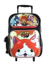 "New Nintendo Yo-Kai Watch 16"" Back to School Rolling Detachable Backpack"