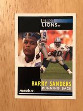 1991 Pinnacle Barry Sanders #250 Detroit Lions Football Card HOF