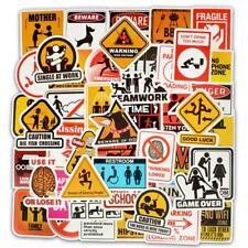 50Pcs/lot Warning Sticker Bomb Decal Vinyl Car Skate Skateboard Laptop Luggage