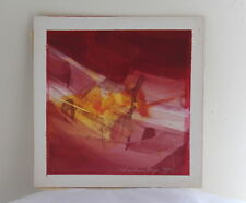 Charles Dix 1963 Original Signed Wisconsin Art Watercolor Abstract Expressionist