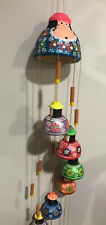 "Hand Painted Large Terra Cotta Wind Chime 60"" Long Made in Colombia"
